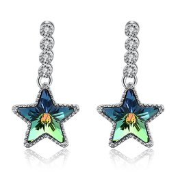 star shaped gifts NZ - Lovely Designed Earrings Crystal From Swarovski Elements Star Shaped Dangle & Chandelier Earrings Stylish Valentine's Day Gifts POTALA34B