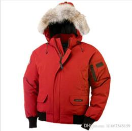 Canadian online shopping - DHL Fashion Outdoor Thicken Windproof Warm Tweezers Fur Collar Long Sleeve Putin Short Canadian Goose Down Jacket Mens Jacket
