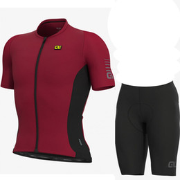 ale cycling set 2019 - 2019 ALE Team Cycling Short Sleeves Jersey Shorts Sets Bicycle Summer Breathable Sport Wear Clothes Bicycle Ropa Ciclism