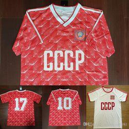 CCCp shirt online shopping - Velvet Number Retro USSR Home Mikhailichenko Red CCCP Soviet Union Belanov White Away Soccer Jersey Vintage Football Shirts Maillot