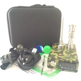 $enCountryForm.capitalKeyWord Australia - 2019 portable Banger Quartz E Nail Electric Dab Nail Box Kit ENail Carb Cap 14 18 MM Male Temperature Controller Rig glass Bongs