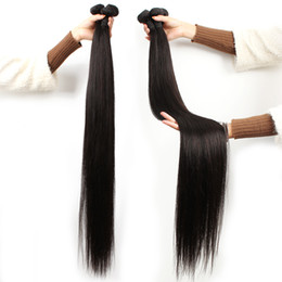 28 30 32 34 inch remy Brazilian human hair 3pcs cuticle aligned hair extension 9A grade straight unprocessed raw Indian hair bundles on Sale