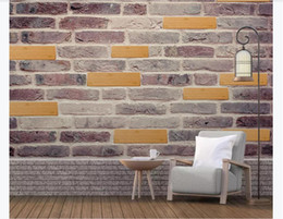 $enCountryForm.capitalKeyWord Australia - Customized 3d mural wallpaper photo wall paper Modern creative 3D wood block wood stone brick bedroom sofa background mural wallpaper