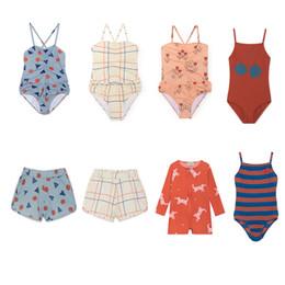 Cute Baby White T Shirt Australia - Kids 2019 Swimwear Bobo Girls Cute One-piece Swimsuit Boys Swimwear Board Shorts T-shirt Vacation Beach Baby Clothing Y19051003