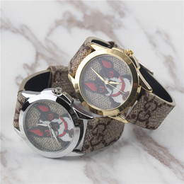 f9c931ed29b Silver Gold Dog Par Par Amour New Relógios De Luxo Para Homens Mulheres Moda  Vestido Esportes Relógio 38 MM Menina Relógio de Marca Relógio Masculino