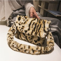 winter fur handbag NZ - 2019 New Women Winter Faux Fur Shoulder Bag Handbag lady Leopard print Handbag Female Party Small Girls Tote Bag Christmas Gift CJ191222