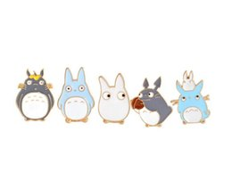 Japan badges online shopping - 5pcs set Japan Anime Enamel Pins and Brooches Childrens Clothing Badge Corsage My Neighbor Jewelry