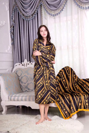 $enCountryForm.capitalKeyWord Australia - LE JARD Art Luxury Barocco Jacquard Silk Bathrobes Medusa Designer Print Night Robes Matching Same Towels Sets Royal Home Hotel Collections
