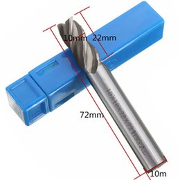 straight cutters NZ - 4 Flute End Mill Cutter Straight Shank Drill Tools High-speed 4 6 8 10 12mm HSS CNC Bit High Quailty Sale 2018