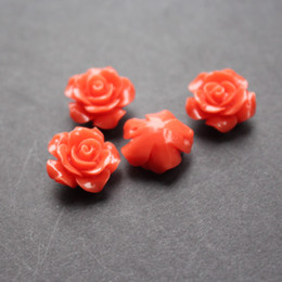 $enCountryForm.capitalKeyWord NZ - 20Pieces lot 15mm Synthic Coral flower beads Camelia Flower Shape Loose Beads Orange Color Cabochon for Jewelry making