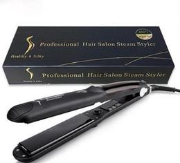 $enCountryForm.capitalKeyWord Australia - Professional Hair Salon Steam Styler Hair Straightener Irons Steam Flat Iron Vapor Fast Heating Hair Care Styling Tools With Free Shipping