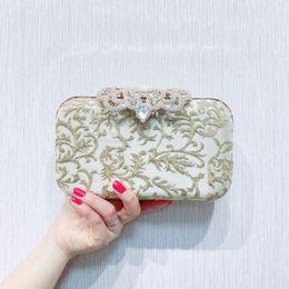 $enCountryForm.capitalKeyWord Australia - Dgrain Exquisite Women Mini Evening Clutch Wristlets Bag Bridal Wedding Party Designer Handbag and Purse Cocktail Party Bag Minaudiere Box