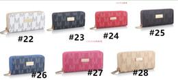 $enCountryForm.capitalKeyWord Australia - PU Leather Women Brand Long Wallet Letter Coin Purse Ladies Double Zipper Luxury Designer Wallets Clutch Money Bag Card Holder Pouch B61303