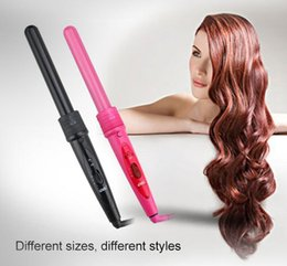 $enCountryForm.capitalKeyWord Australia - 5 in 1 hot hair curler set Hair The Wand Hair Curler Roller Gift Set 09-32mm Curler Wand EU US Plug