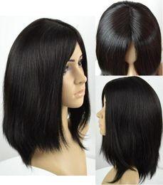 EuropEan koshEr wig online shopping - Kosher Wigs A Grade Light Black Color b Finest Brazilian Virgin Human Hair Silky Straight x4 Silk Base Jewish Wig Fast