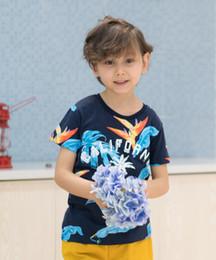 $enCountryForm.capitalKeyWord Australia - Baby Boys Clothes Sets Summer Cotton Letter Printed Child Sets 2PCS T Shirt+Shorts Pants Children Suit deep blue top yellow short