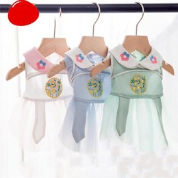 Discount small puppies dresses bows Pet Dresses Puppy Clothing Soft Dog Princess Dress Dog Costumes Summer Breathable Small Dresses Pet Clothes New 2020