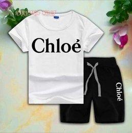 $enCountryForm.capitalKeyWord Australia - CLOE Children Sets 1-7T Kids T-shirt And Short Pants 2Pcs sets Baby Boys And Girls 95% Cotton Letter Design Printing Style Summer Sets