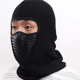 winter fleece face mask NZ - Cycling Fleece Winter Fleece Warm Full Face Cover Anti-dust Windproof Ski Mask Snowboard Hood Anti-dust Bike Thermal Balaclavas Scarf