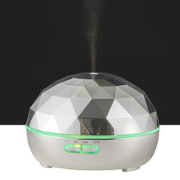 300ml Air Humidifier Electroplated Metal Aroma Essential Oil Diffuser Ultrasonic Mist Maker 7 Led Light For Home Office plating Diffuser on Sale