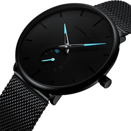 ultra thin watches mens UK - Relogio Masculino Mens Watches Top Ultra-thin Quartz Wrist Watch Casual Men's Watch Clock erkek kol saati reloj Hot
