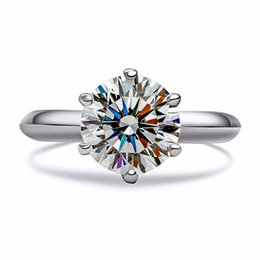 25 Silver Set UK - ZHF Jewelry 25 Sterling Silver Wedding Rings for Women 2 Ct Cubic Zirconia CZ Engagement Ring Jewelry