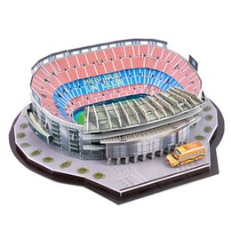 Spelling toyS online shopping - 3d Three dimensional Puzzle World Football Stadium Children s Puzzle Diy Spell Insert Toy Learning Educational Games Toys SH190715