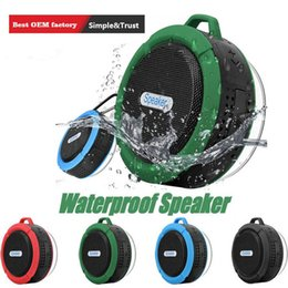 wholesale mini suction cups Australia - C6 Speaker Bluetooth Speaker Wireless Potable Audio Player Waterproof Speaker Hook And Suction Cup Stereo Music Player High Quality