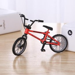 kids mini bicycle NZ - Mini Finger Mountain Bikes Diecast Nickel Alloy Stents Finger Bicycle Children Novelty Gag Toys Model Mini Portable Bike for Kid