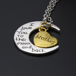 $enCountryForm.capitalKeyWord Australia - statement necklaces engraving pendants High Quality Cheap Jewelry I Love You family Necklaces 925 Silver 24K Gold Chains Necklaces