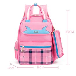 065cb32dbe8f Pink Checkered Bag NZ - 1 Pc Pink Backpack School Kids School Bag Beautful  Canvas School