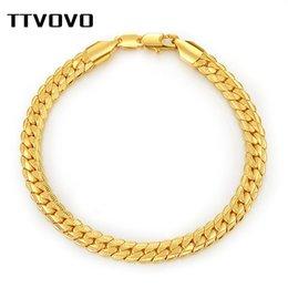 6mm Cuban Chain Australia - TTVOVO Cuban Curb Chain Bracelet Big Chunky 6MM 21CM Link Snake Chain Hand Bangles & Bracelets for Men Fashion Wholesale Jewelry