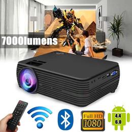 $enCountryForm.capitalKeyWord Australia - X5 LCD Projector android4.4 6.0 Cinema Theater Movie wifi bluetooth LED Proyector HD Projectors AV Support 1080P 7000 Lumen