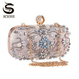 $enCountryForm.capitalKeyWord Australia - Luxury Clutch Purse Women Crystal Diamond Evening Bags White Pearl Beaded Shoulder Party Bag Bridal Wedding Clutches Handbags #88857
