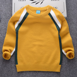 $enCountryForm.capitalKeyWord NZ - good quality Children Clothing Boys Girls Knitted Sweater Kids Spring Autumn Cotton Outer Wear Winter Outwear Pullover Striped Shoulder