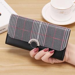 Slim Phone Wallet Australia - Long Wallet Women Purse Three Fold Slim Wallets Coin Pocket Card Holder Phone Bag Pu Leather Money Purses For Women Wallets