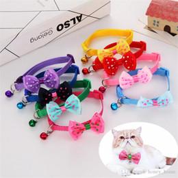 $enCountryForm.capitalKeyWord Australia - 1Pcs Hot Sale Adjustable Pet Bowknot Necktie Collar Cute Bow Tie Bell Kitten Puppy Pets Supplies Free Shipping 4.9