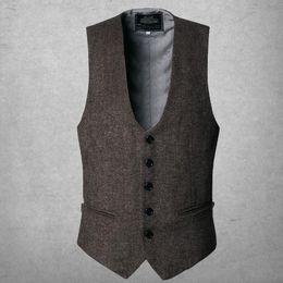 $enCountryForm.capitalKeyWord NZ - New Arrival Dress Vests For Men Slim Fit Mens Suit Vest Male Waistcoat Casual Sleeveless Formal Business Jacket