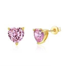 gold studs designs UK - Sweetly Designed Earrings Heart Pattern Mosaic Zircon Fashion K Gold Stud Earring Accessories Fashionable Christmas Jewelry Gifts POTALA201