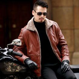 $enCountryForm.capitalKeyWord Australia - New Plus Size 8XL 7XL 6XL 5XL Warm Winter Sheepskin Men's Leather Jacket Men Leisure Coat Men Fur Lining Jackets Outerwear Parka