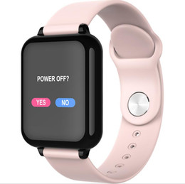 Bluetooth watches windows online shopping - Fashion B57 color screen smart watch heart rate blood pressure oximeter step call reminder Bluetooth waterproof sports bracelet