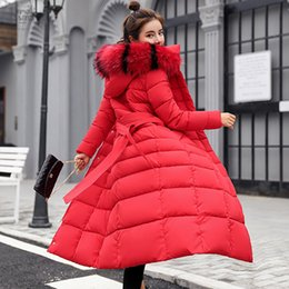 $enCountryForm.capitalKeyWord Australia - Of The Winter Park With Fur Collar Warm Button Coat For Women Lightning Long Sleeve Belt Outerwear Coat Leader Sales