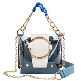 $enCountryForm.capitalKeyWord Australia - Transparent Jelly Panelled Acrylic Chain Bucket Bags Women Shoulder Bags Ladies Clear Pvc Handbags Women Messenger Crossbody Bag