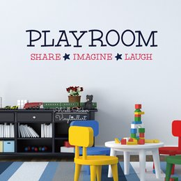 Playroom Art Australia - Playroom Quote Wall Sticker, Kids Room Quote Wall Decal, Kids Room Decor Vinyl Wall Sticker Q233