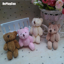 Ted Teddy bear plush online shopping - 25pcs Kawaii Small Joint Teddy Stuffed With Chain cm Toy Teddy bear Mini Bear Ted Bears Plush Toys Gifts Q190521