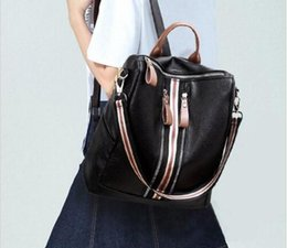 $enCountryForm.capitalKeyWord NZ - High Quality PU Leather Women Backpacks Travel Bags Female Black Daily Casual Shoulders Bag Lady Backpack Two Straps Double Zippers Handbag