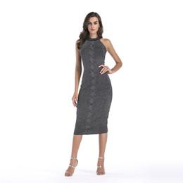 8c8b76cacc820 2019 Europe and America Spring Dress Sleeveless Slim Pencil Office Work  Dress Elegant Bodycon Dresses High Quality New Fashion