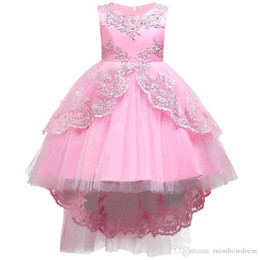 $enCountryForm.capitalKeyWord UK - Lovely Red Tea Length Girls Pageant Dresses Halter Sequins Lace Puffy First Communion Dress Organza Cute Personalized Flower Girls Dress