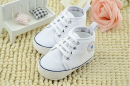 $enCountryForm.capitalKeyWord Australia - 10% off cheap wholsale Kids Baby Sports Shoes Boy Girl White canvas shoes First Walkers Sneakers Baby Infant Soft sole walker Shoes