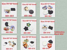 Wholesale Factory Price Sublimation Blank DIY Fridge Magnet 9Shapes Refrigerator Magnets Kids gift Home Decoration